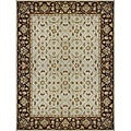Hand-tufted Aara Ivory/ Brown Wool Rug (3'6 x 5'6)