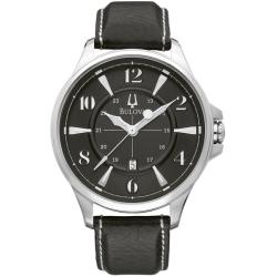 Bulova Men's 96B135 'Adventurer' Black Leather Strap Watch