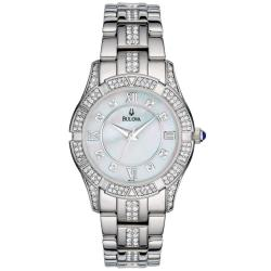 Bulova Women's Stainless Steel Crystal Accented Sport Watch