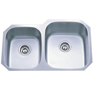 Stainless Steel 31-inch Undermount Double Bowl Kitchen Sink