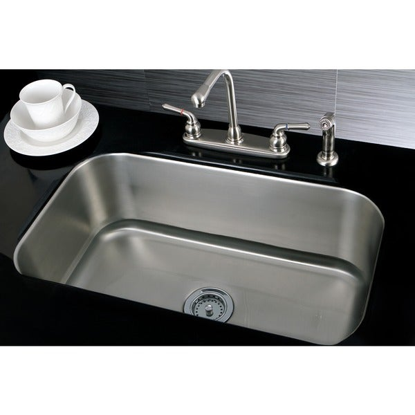 Kitchen Sinks Undermount Stainless Steel : Single Bowl 30-inch Stainless Steel Undermount Kitchen Sink - 13347043 ...