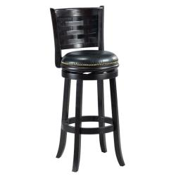 Brooklyn Cappuccino Woven Back Swivel Bar Stool