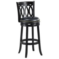Cameron Cappuccino Spiral Back Swivel Bar Stool