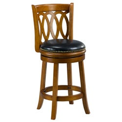 Cameron Dark Oak Spiral Back Swivel Counter Stool