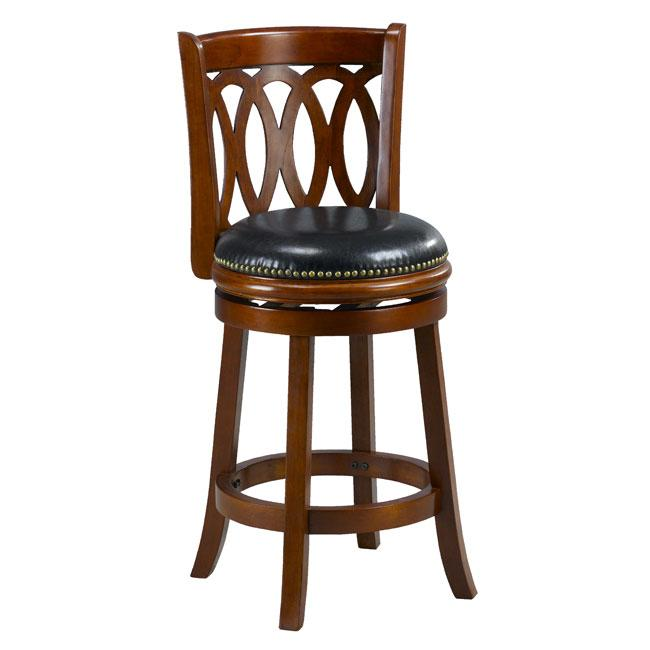 Cameron Cherry Spiral Back Swivel Counter Stool 13347069