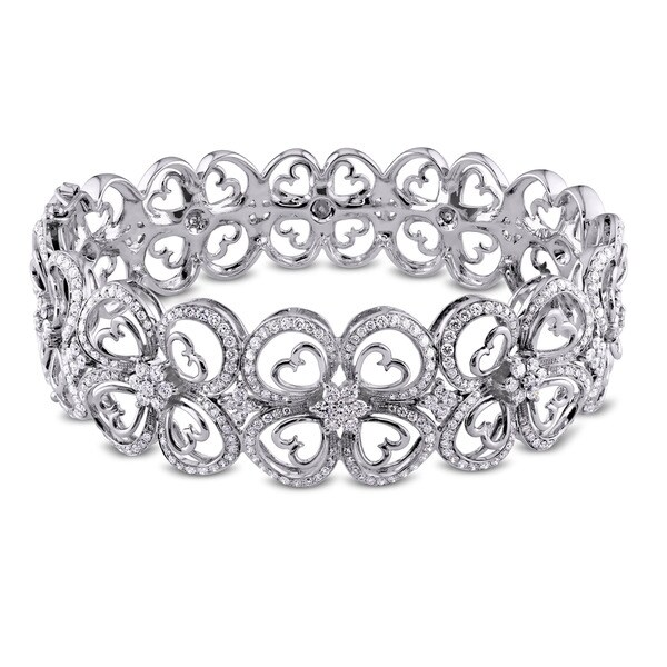 Miadora Signature Collection 14k White Gold 3 3/4ct TDW Diamond Bracelet (G-H, SI1-SI2)