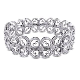Miadora 14k White Gold 3 3/4ct TDW Diamond Bracelet (G-H, SI1-SI2)