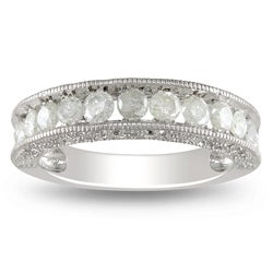 Sterling Silver 1ct TDW Diamond Wedding Band (H-I, I3)