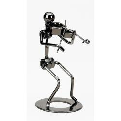Decorative Violist Metal Figurine