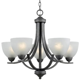 5-light Silver Finish Chandelier
