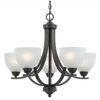 5-light Rust Finish Chandelier