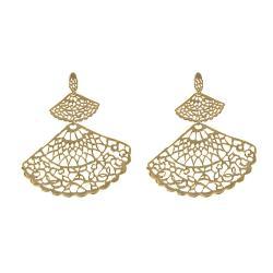 Adee Waiss 18k Goldplated Sterling Silver Graduated Fan Earrings