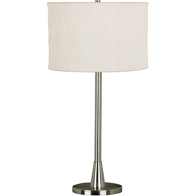 Rowe 30-inch Brushed Steel Table Lamp