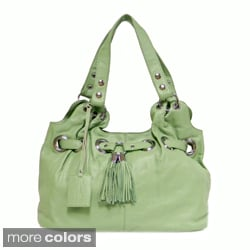 Donna Bella Designs 'Zara' Leather Tote Bag