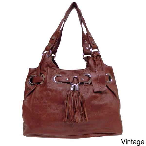 Donna Bella Designs 'Zara' Leather Tote Bag