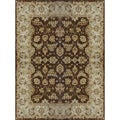 Hand-tufted Aara Brown Wool Rug (7'10 x 11')