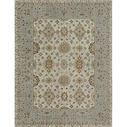 Hand-tufted Aara Ivory Wool Rug (5' x 7'6)
