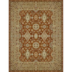 Hand-tufted Aara Orange Wool Rug (3'6 x 5'6)