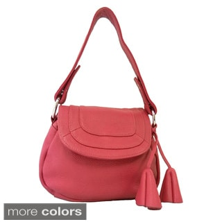 Donna Bella 'Convenience' Leather Shoulder Bag