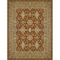 Hand-tufted Aara Orange Wool Rug (2' x 3')