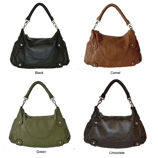 Donna Bella 'Timeless Beauty' Leather Hobo Bag