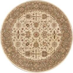 Hand-tufted Aara Ivory/ Sage Wool Rug (8'0 Round)
