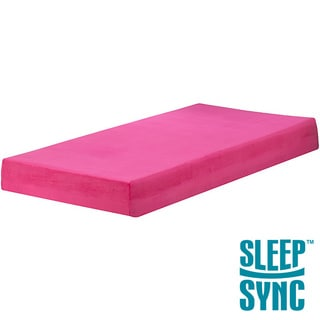 Sleep Sync Raspberry 7-inch Twin-size Memory Foam Mattress