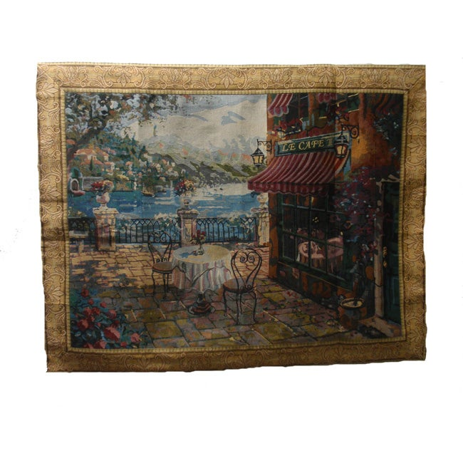 Lakeside Terrace Large Cotton Wall Tapestry (60 x 80)