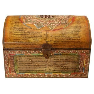 Wooden Trunk-shaped Decorative Box (India)