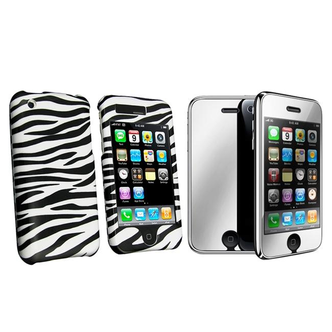 Zebra Protector Case with Mirror Screen Protector for Apple iPhone 3G/ 3GS