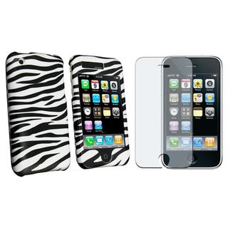 Zebra Case with Anti-glare Screen Protector for Apple iPhone 3G/ 3GS