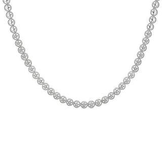 Miadora 18k White Gold 1/4ct TDW Diamond Necklace (G-H, SI1-SI2) with Bonus Earrings