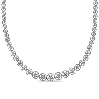 Miadora Signature Collection 18k White Gold 1 1/5ct TDW Diamond Necklace (G-H, SI1-SI2)