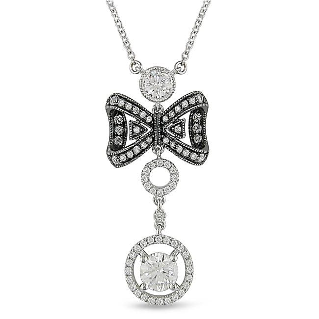 Miadora 18k White Gold 1 1/2ct TDW Diamond Necklace (G-H, SI1-SI2)