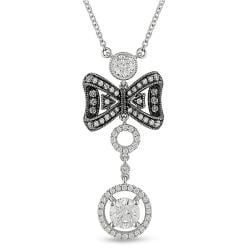 Miadora 18k White Gold 1 1/2ct TDW Diamond Necklace (G-H, SI1-SI2)