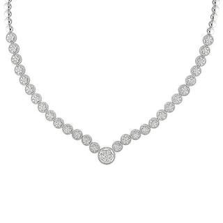 Miadora 18k White Gold 3 2/5ct TDW Diamond Necklace (G-H, SI1-SI2)