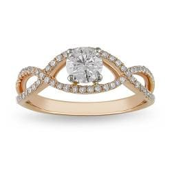 Miadora 14k Two-tone Gold 3/4 CT TDW Diamond Ring (G-H-I, I1-I2)