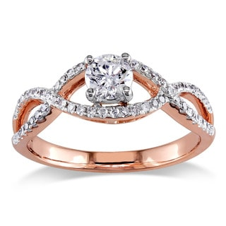 Miadora 14k Rose Gold 3/4 CT TDW Diamond Ring (G-H-I, I1-I2)