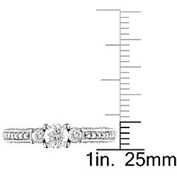 Miadora 14k White Gold 1ct TDW Diamond Wedding-style Ring (G-H, I2-I3)