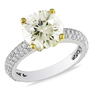 Miadora 14k Gold 3 3/5ct TDW Certified Diamond Engagement Ring (G-H, SI1-SI2)
