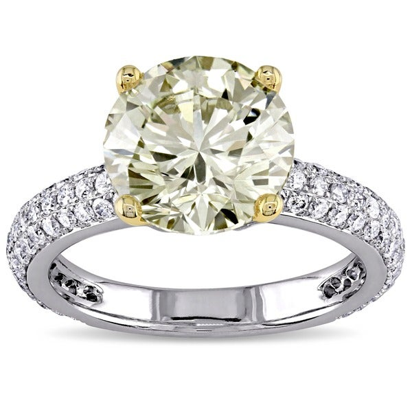 Miadora 14k Gold 3 3/5ct TDW Certified Diamond Engagement Ring (G-H, SI1-SI2)