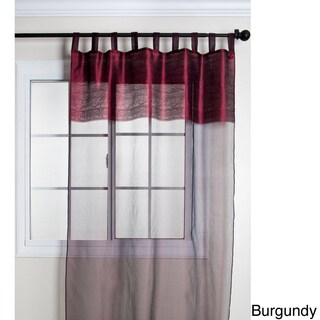 Silk Sheer Tab Top 84 Inch Curtain Panel Overstock Shopping Great Deals On Sheer Curtains