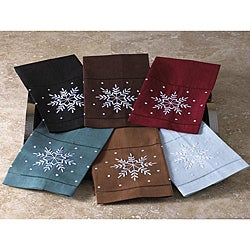 Embroidered Snowflake Guest Towels (Set of 4)