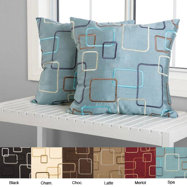 Madison Square 18-inch Decorative Pillows (Set of 2) - Overstock Shopping - Great Deals on ...