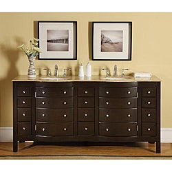 Silkroad Exclusive Pomona 72-inch Double Sink Bathroom Vanity