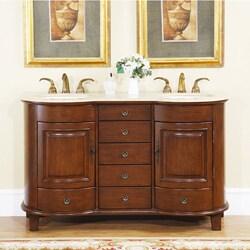 Silkroad Exclusive Gualala 59-inch Double Sink Bathroom Vanity