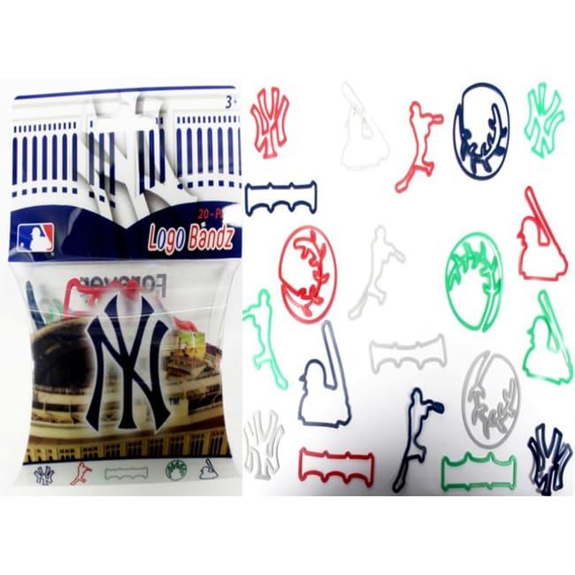 Logo Bandz 'Yankees' Characters Shaped Silicone Kids Bracelets (2 packs).