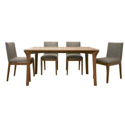 Mier Brown 5-piece Modern Dining Set
