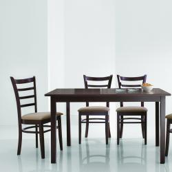 Keitaro Dark Brown 5-piece Modern Dining Set