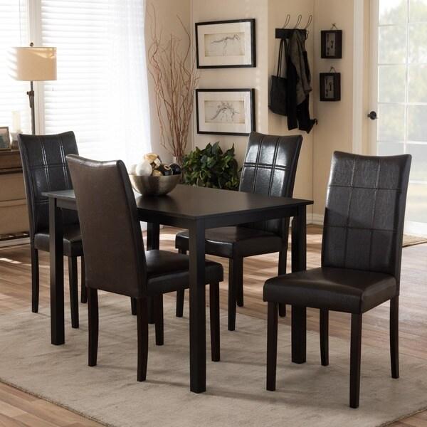 Eugene Dark Brown 5-piece Modern Dining Set